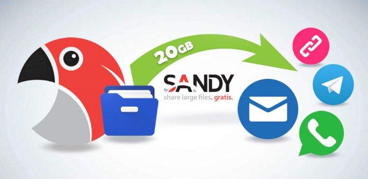 SANDY - Invia file di grandi dimensioni